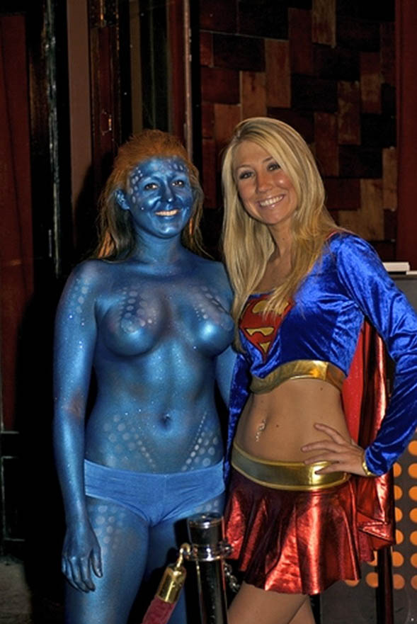 erotic halloween supper heros female nudity