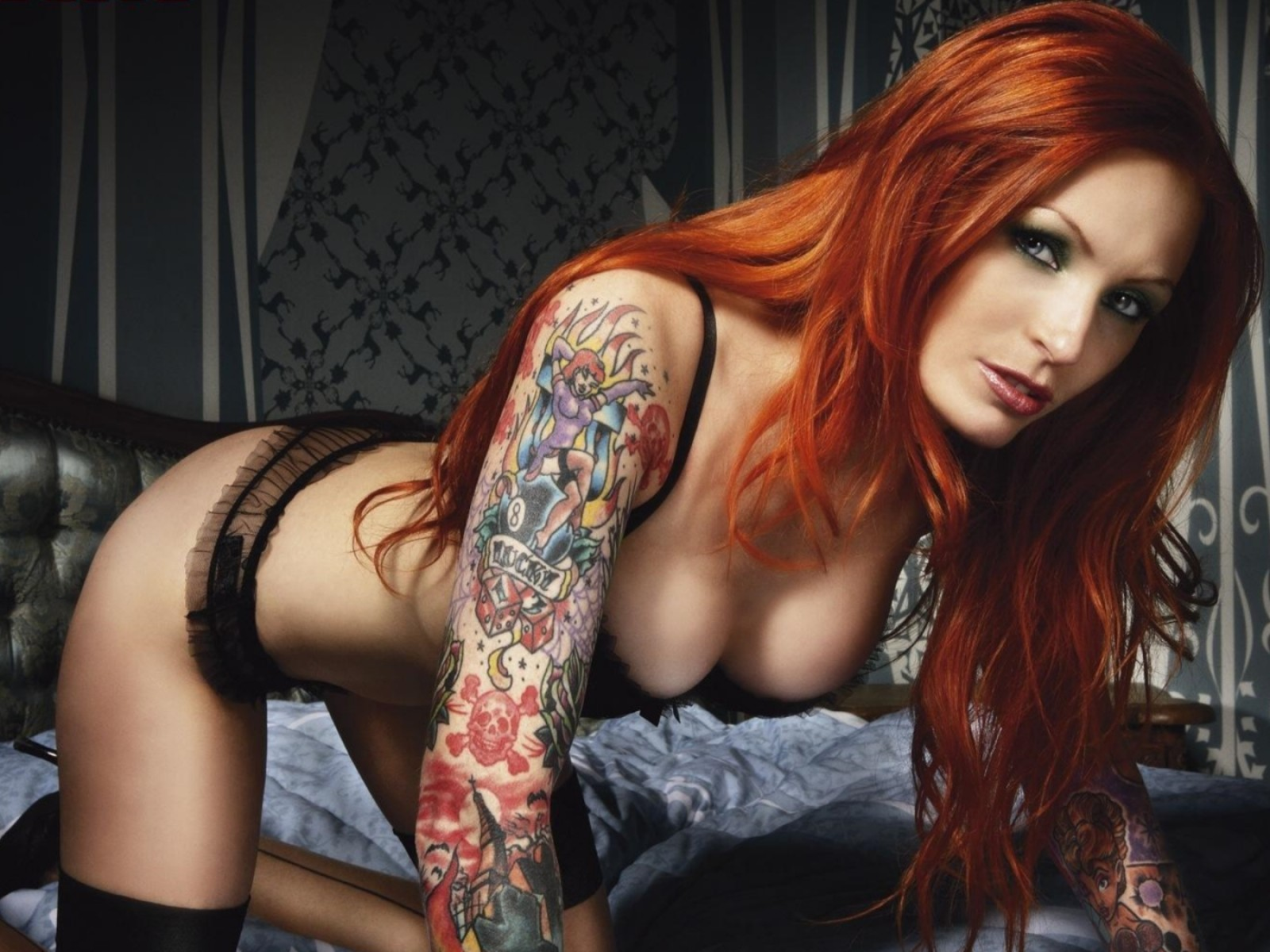 Hot Girls With Tattoos Wallpaper