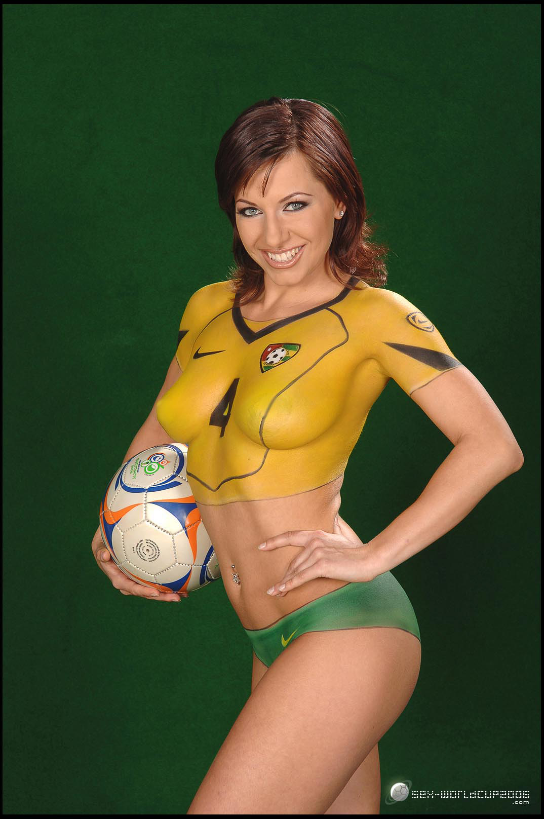 The World   S Largest Bodypaint Soccer Babe Bonanza